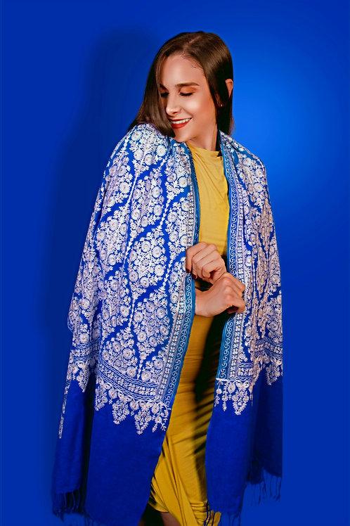 Deep Blue Cashmere Pashmina