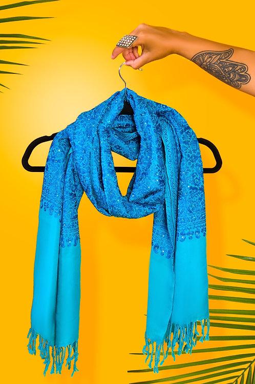 Turquoise Cashmere Pashmina