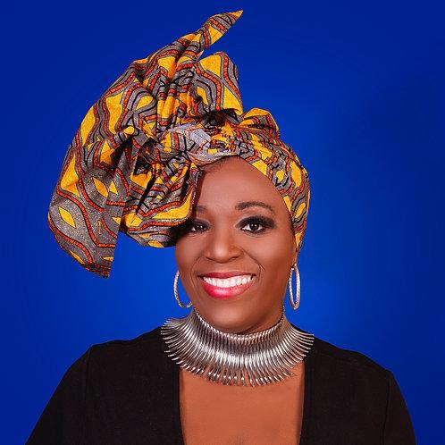 Metallic African Head Wrap