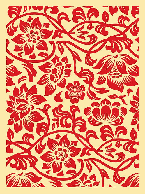 Floral Takeover 2017 (Red/Cream) 61 x 46 cm