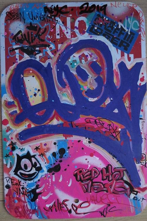 Metallic Sign Red Hot Mamma 45.5 x 30.5 cm