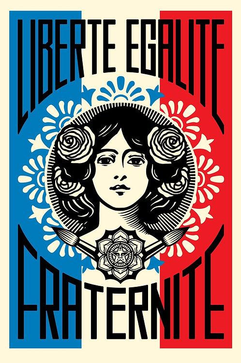 Liberté Egalité Fraternité 1er Edition Signé 91/61cm