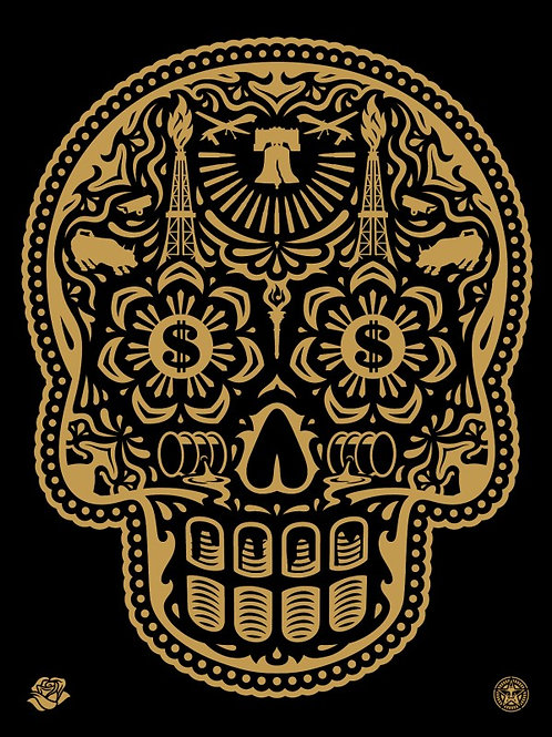 Power Glory Day of the Dead Gold 2016 61 x 46 cm