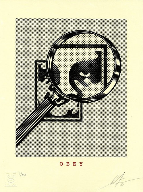 Obey magnifying glass (Cream), 2021