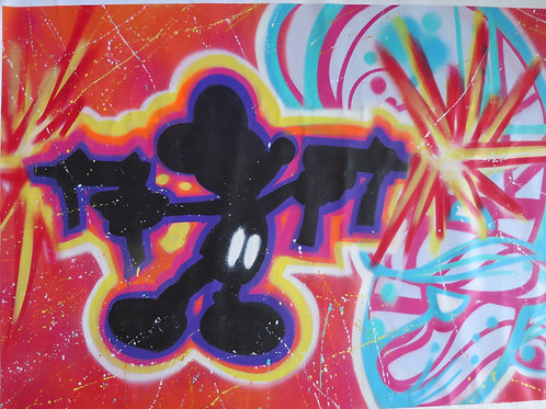 Anti Mickey  160 x 101 cm