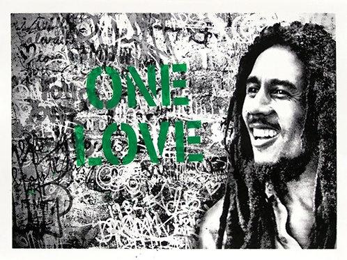 Happy Birthday Bob Marley - One Love (Green)