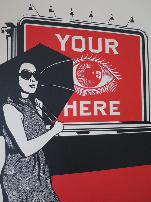 Obey Billboard Eye 2008