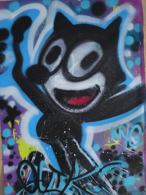 Blue Felix 71 x 50.5 cm