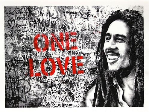 Happy Birthday Bob Marley - One Love (Red)