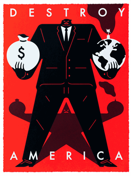 Cleon Peterson Destroy America (Red)