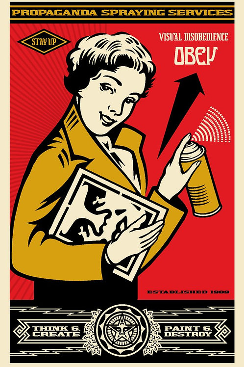 OBEY STAY UP GIRL 91x61 cm