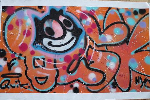 Tangerine 'Shrooms 115 x 70 cm