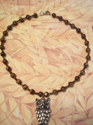 Tree Owl Necklace