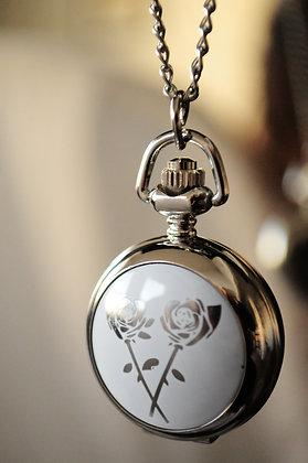Snow Roses Pocketwatch Pendant