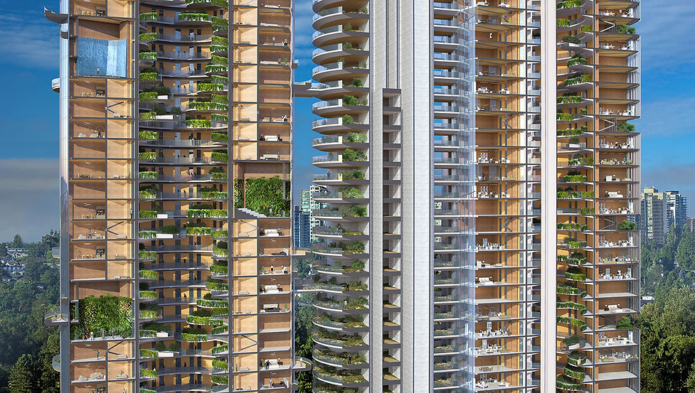 MASS TIMBER USE-NEUTRAL TOWERS in Burnaby, B.C.