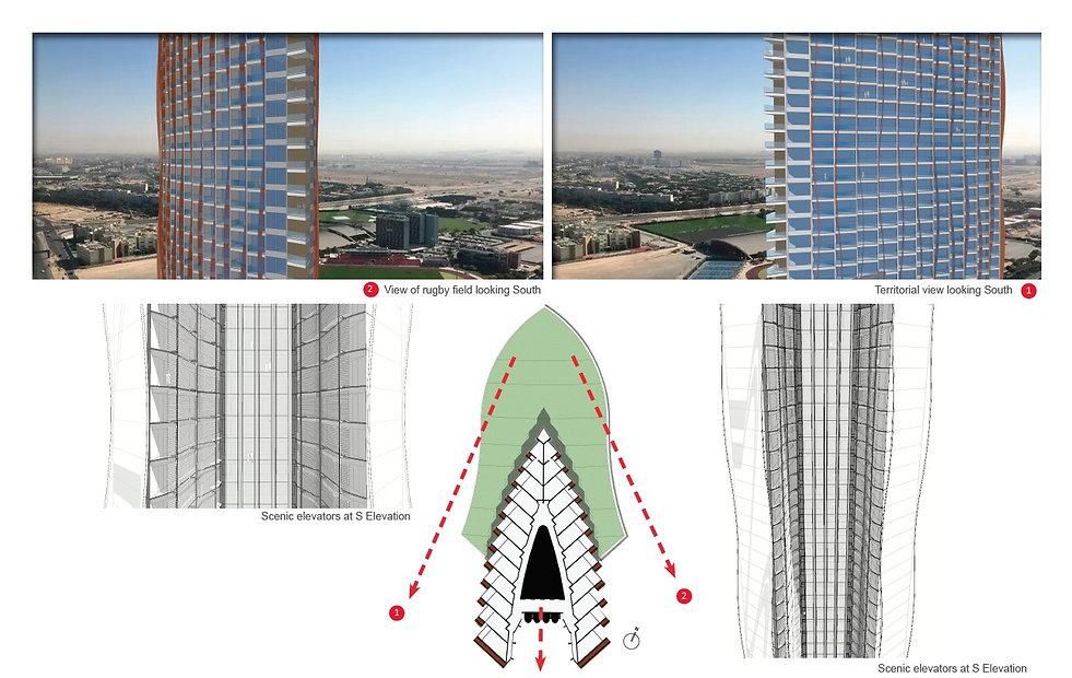 ATHLETA TOWER, hotel design in Dubai