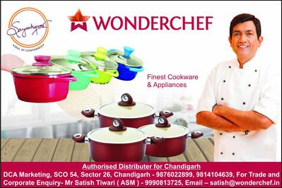 Wonderchef advertisement in print media.