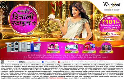 Whirlpool Advertisemet in print media