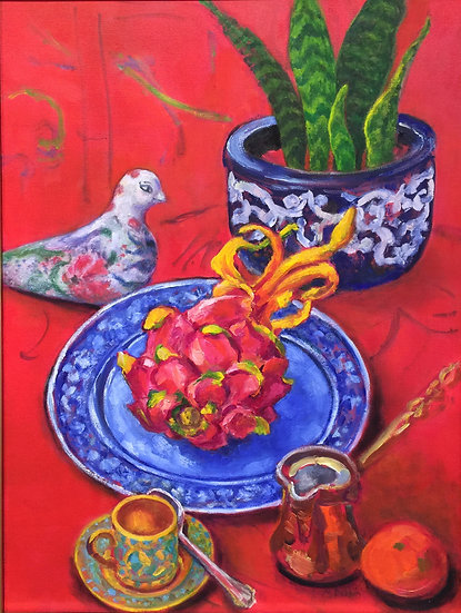 Still Life with Turkish Dove