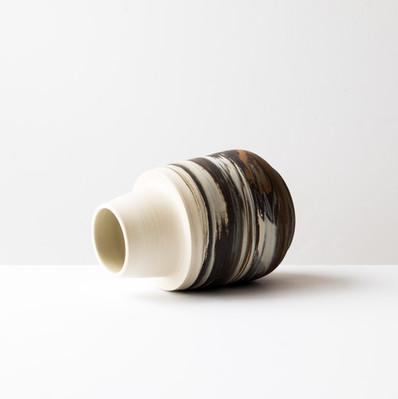 Vase à col cheminée pâle