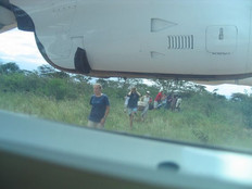 View from the airplane as we escape from Kaabong