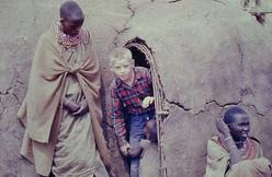 Jim at a Maasai boma