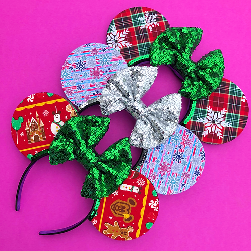 Custom Holiday Mouse Ears (MESSAGE ME BEFORE PURCHASING)