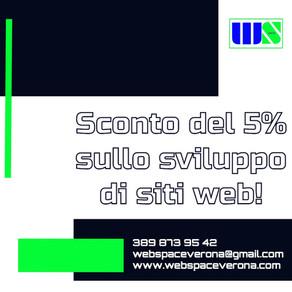 Sconto del 5% sullo sviluppo di siti web!
