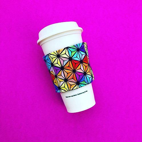 Rainbow SSE Coffee Cozy