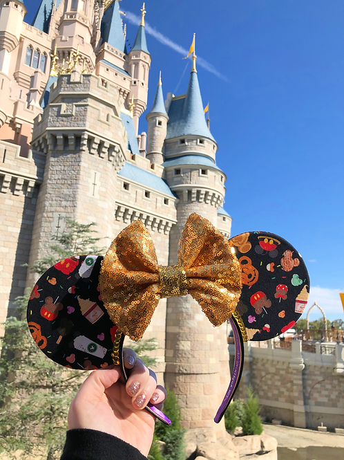Yummy Snacks Mouse Ears (Black fabric)