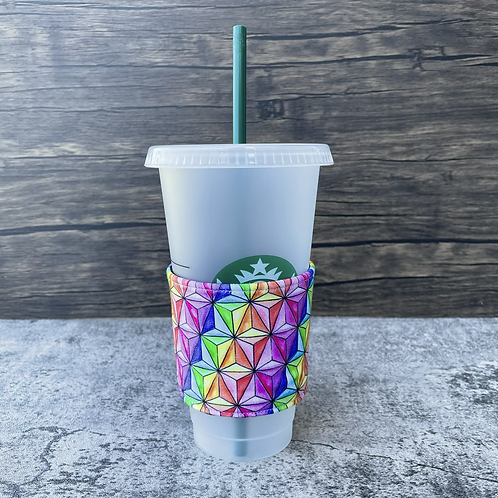 Artsy Spaceship Earth Coffee Cozy