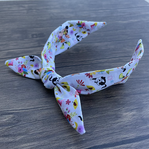 Minnie In Bloom Top Knot (white base only)