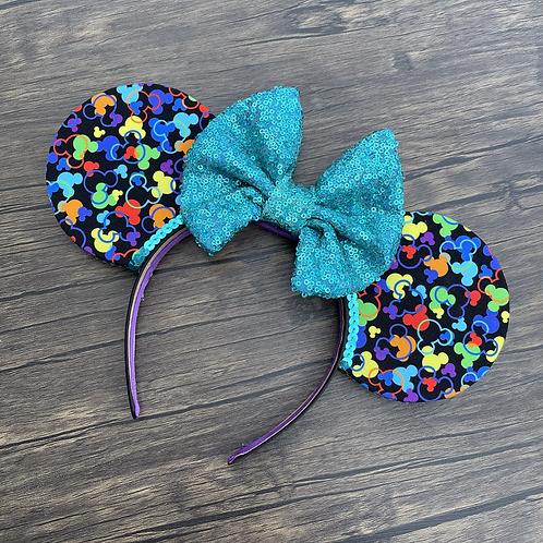 Rainbow Confetti Mouse Ears