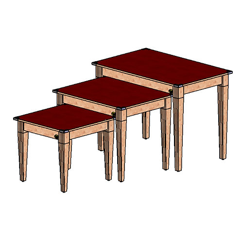 74-0017 3 Piece Nesting Table Set-2 Finishes