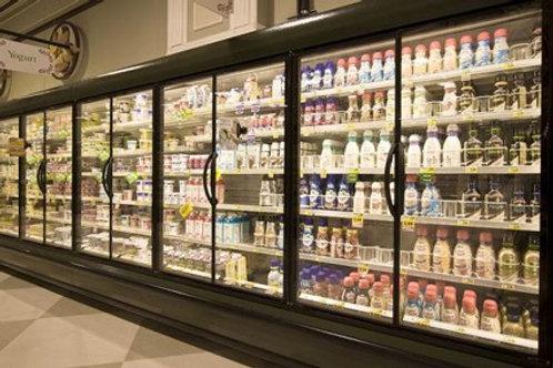 84-0001 Hussmann D5-DD 24 Feet Dairy Deli Produce Run with Doors