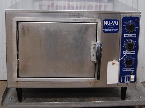 142-0085 NU VU XO-1 Commercial Half Size Counter Top Convection Oven w/ Steam