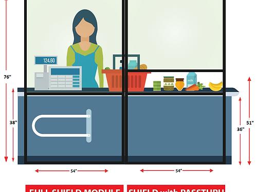 82-0025 Hygiene Shield for Cashier/Checkout