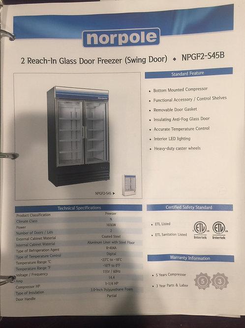 87-0001 Norpole 2 Door Self Contained Freezer