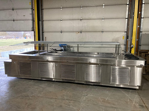 142-0003 Amtekco Stainless Steel Self Contained Salad Bar-15 Feet