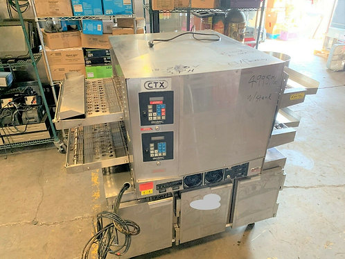 134-0007 Middleby Marshall DZ33 Double Conveyor Oven with Storage Stand