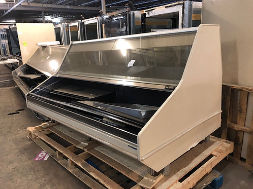 1-0334 Hill Phoenix PTD8RG 8 Foot Straight Glass Over/Under Fresh Meat Case