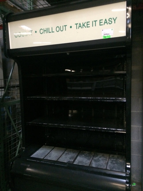 2-0019 4' Black Multi Deck Self Contained Case