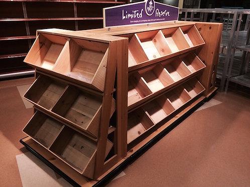 1-0006 Wood Wine Display