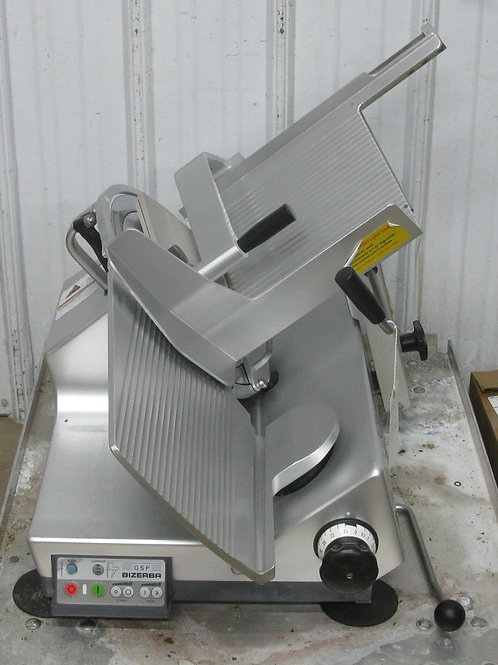142-0042 Bizerba Heavy Duty Manual Meat Cheese Slicer w Sharpener GSP HD