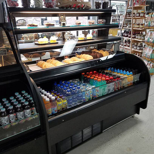 110-0009 Southern Store Fixtures Refrigerated Grab & Go Display Case Dual Servic