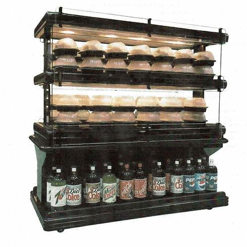 101-0056 2 Tier CSC 5 Foot Chicken Warmer-Hot Food Island Merchandiser