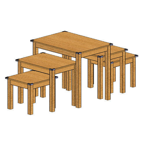 74-0016 5 Piece Nesting Table Set-Small