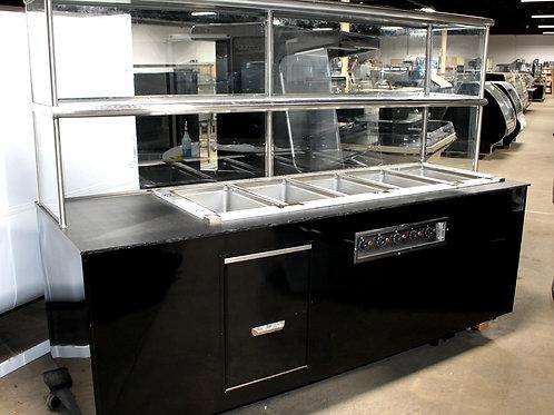 72-0007 Custom 8' Enclosed, 5 Well Delfield Hot Food Station