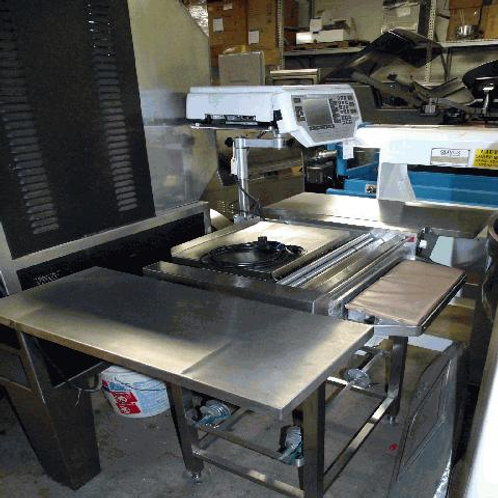 82-0003 Hobart HWS4 Hand Wrapping Station w Scale