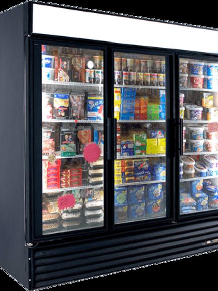 76-0012 True GDM-72F 3 Door Self Contained Freezer